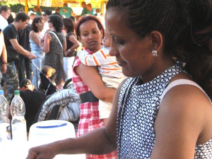 Kaffeestand der Kaffeewelt auf dem Carnival der Kulturen