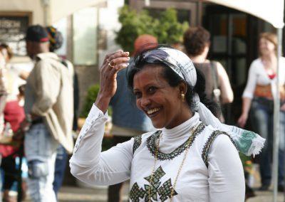 Freweni Gebremichael zeigte die afrikanische Kaffeezeremonie